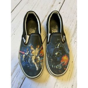 Vans Slip Ons Star Wars May The Force Be With You